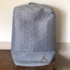 Air Jordan grey silver backpack